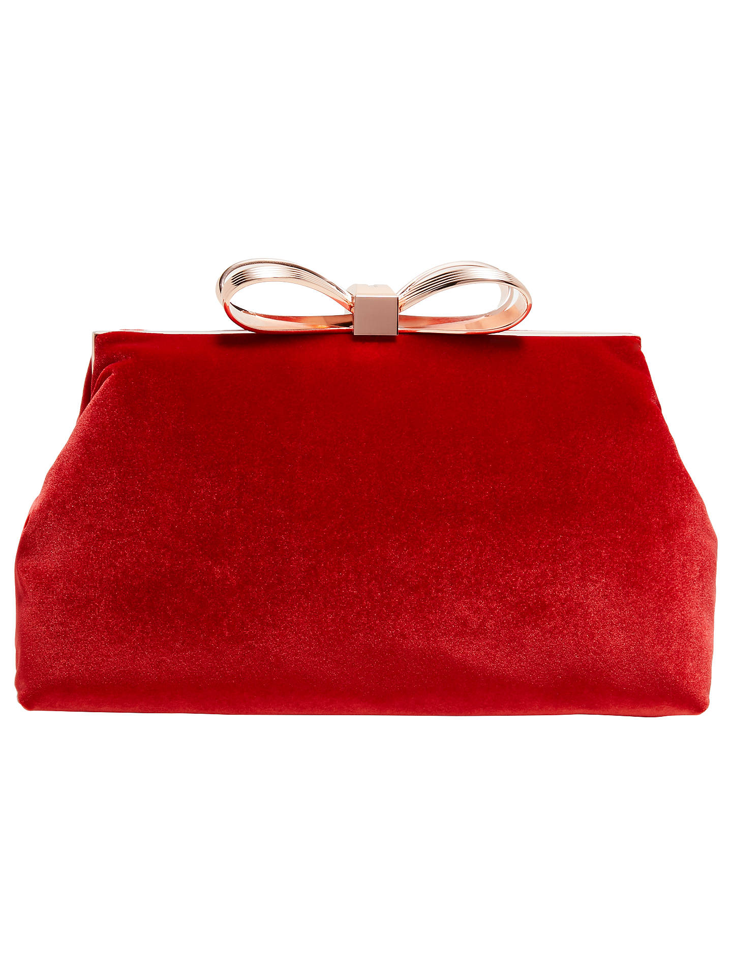 1778f3dd83 Buy Ted Baker Cena Bow Evening Clutch Bag, Bright Red Online at  johnlewis.com ...
