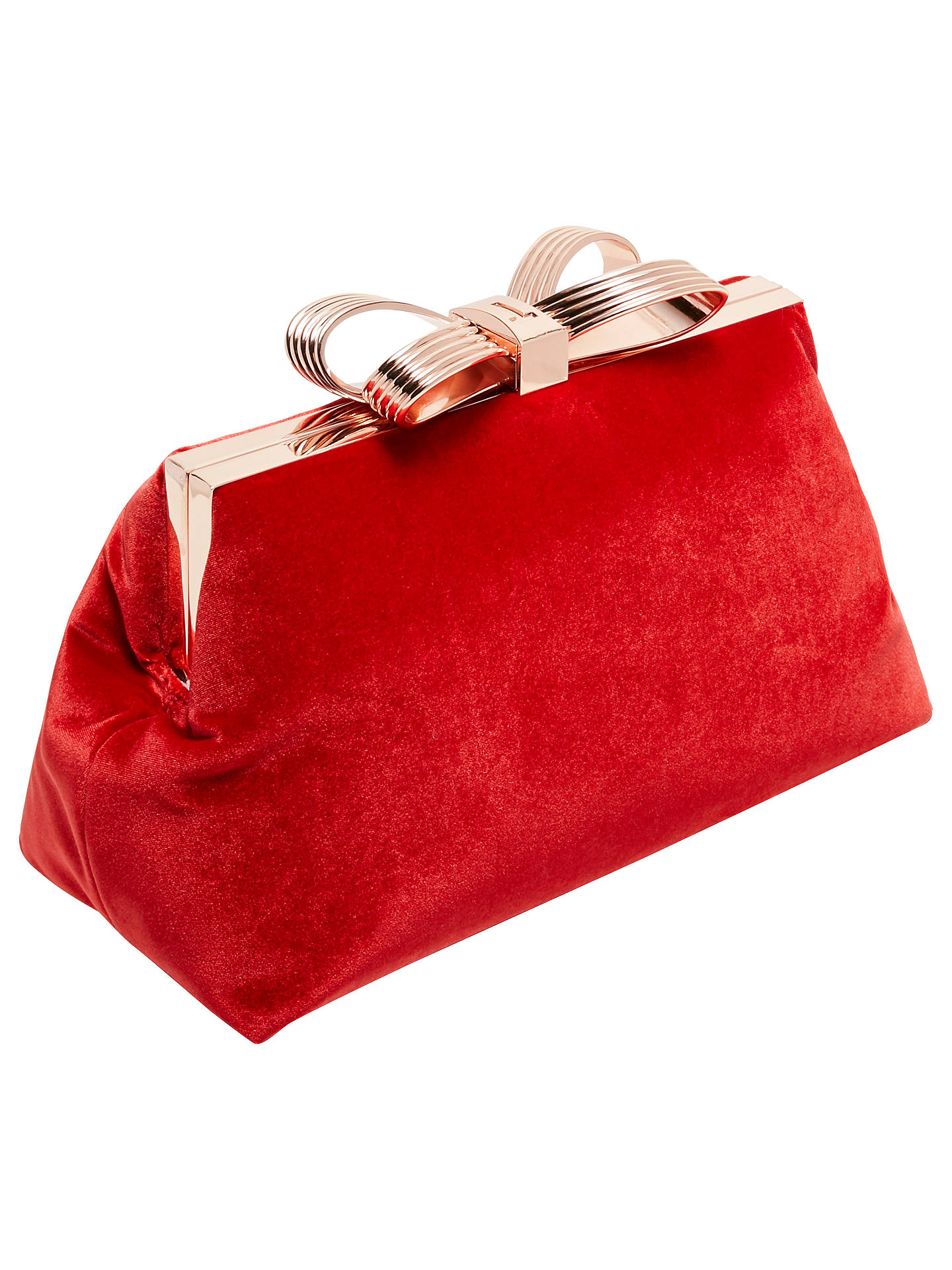 d36b5bc547 ... Buy Ted Baker Cena Bow Evening Clutch Bag, Bright Red Online at  johnlewis.com ...