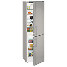 Buy Liebherr CNSL3033 Freestanding Fridge-Freezer, A+ Energy Rating, 55cm Wide, Silver Online at johnlewis.com