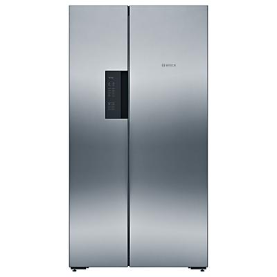 Bosch KAN92VI35 American Style Fridge Freezer, A++ Energy Rating, 91cm Wide, Stainless Steel/Chrome Inox