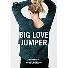 Buy Wool and the Gang Women's Big Love Jumper Knitting Pattern Online at johnlewis.com