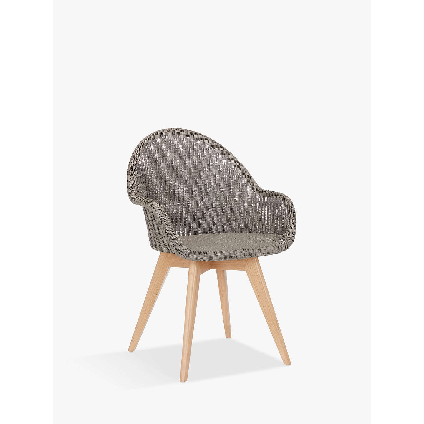 BuyCroft Collection Easdale Lloyd Loom Swivel Chair, French Grey Online At  Johnlewis.com ...