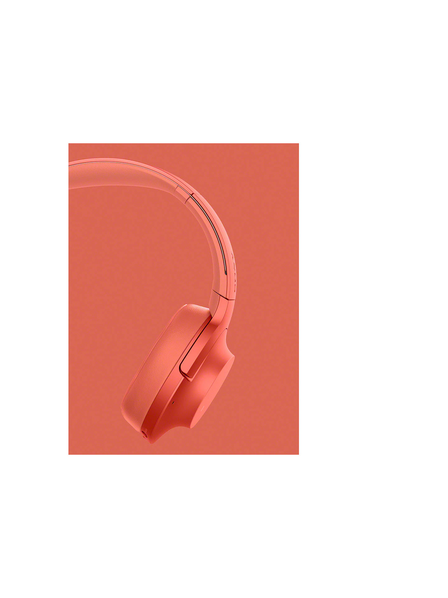 Buy Sony WH-H900N h.ear on 2 Wireless Bluetooth NFC Over-Ear Headphones with Noise Cancellation, Red Online at johnlewis.com