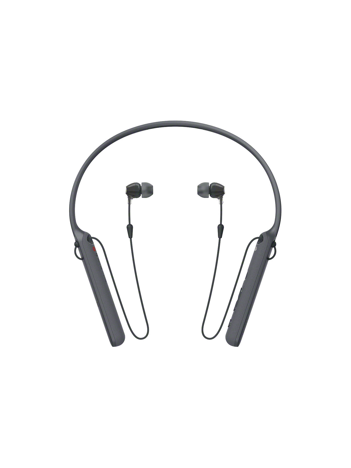 BuySony WI-C400 Bluetooth NFC Wireless In-Ear Headphones with Mic/Remote & Neckband, Black Online at johnlewis.com