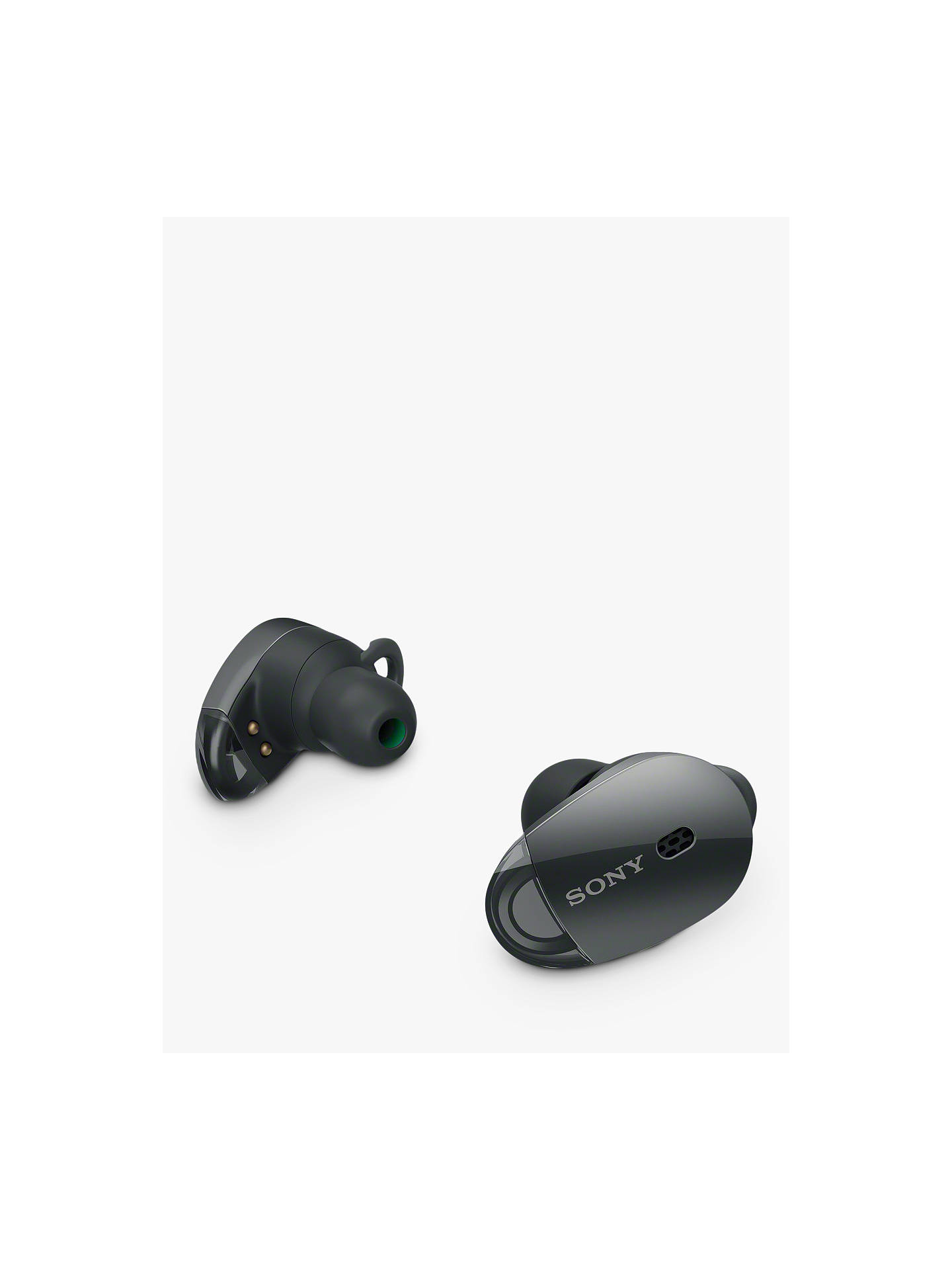 BuySony WF-1000X Noise Cancelling True Wireless Bluetooth NFC In-Ear Headphones with Mic/Remote, Black Online at johnlewis.com