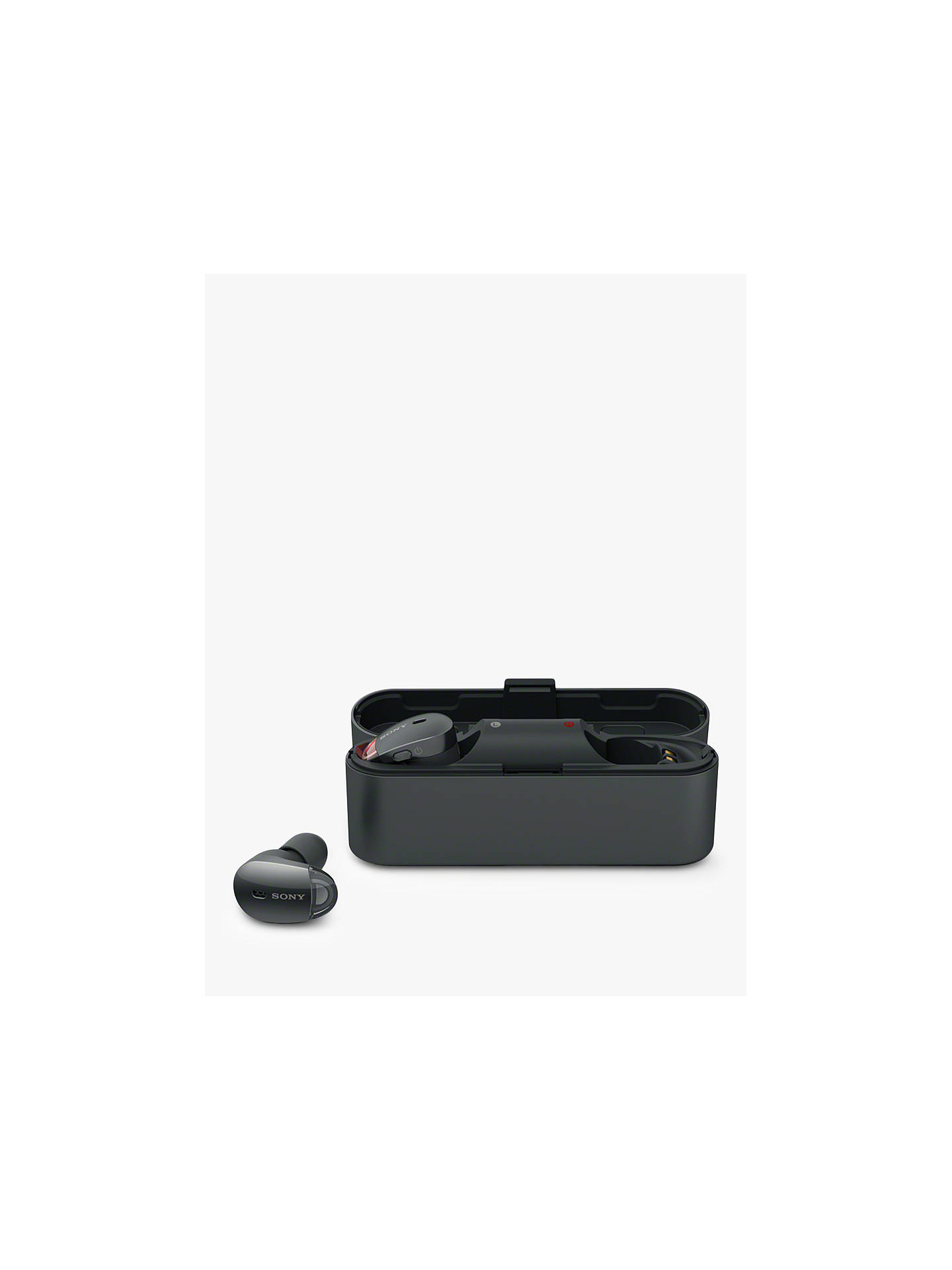 Buy Sony WF-1000X Noise Cancelling True Wireless Bluetooth NFC In-Ear Headphones with Mic/Remote, Black Online at johnlewis.com