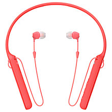 Buy Sony WI-C400 Bluetooth NFC Wireless In-Ear Headphones with Mic/Remote & Neckband Online at johnlewis.com
