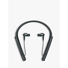Buy Sony WI-1000X Noise Cancelling Wireless Bluetooth NFC High Resolution Audio In-Ear Headphones with Mic/Remote & Neckband Online at johnlewis.com