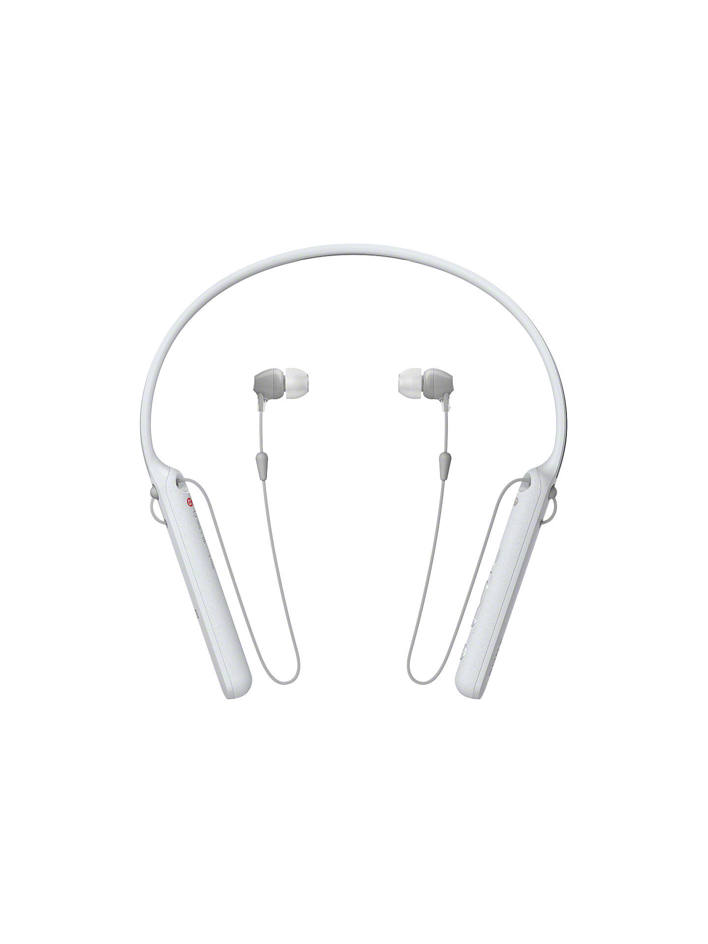 Buy Sony WI-C400 Bluetooth NFC Wireless In-Ear Headphones with Mic/Remote & Neckband, White Online at johnlewis.com