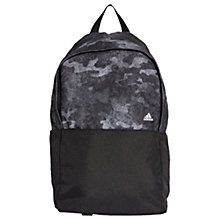 Buy adidas Camo Classic Backpack, Black Online at johnlewis.com