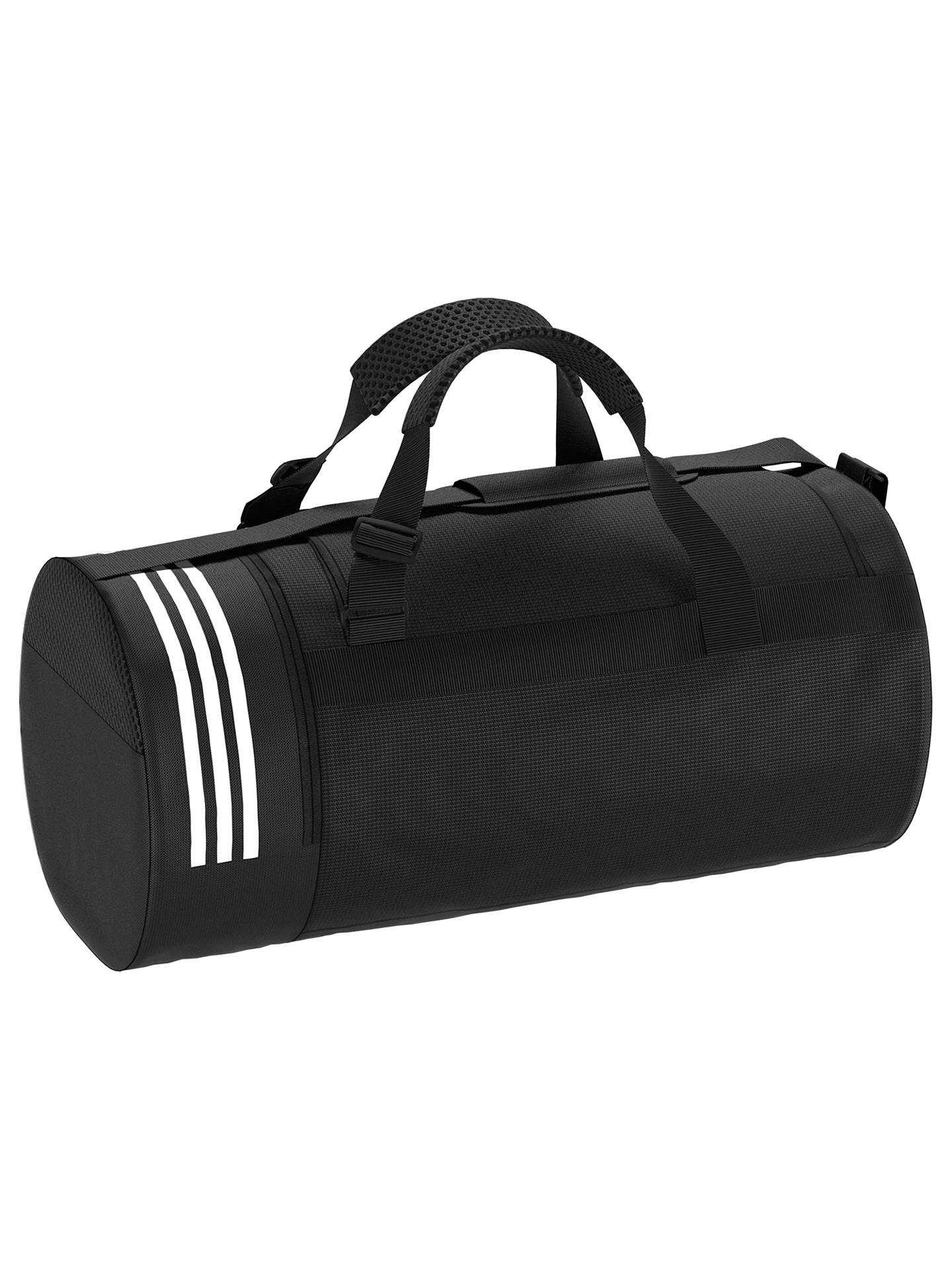 d15c4820654 Buy adidas Convertible 3-Stripes Duffle Bag, Medium, Black Online at  johnlewis.