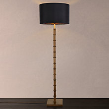 Buy John Lewis Jude Floor Lamp with Cassie Lampshade, Antique Brass / Black Online at johnlewis.com