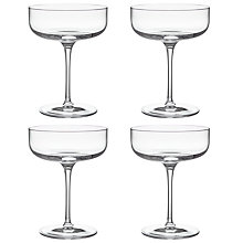Buy John Lewis Sublime Champagne Saucers, Clear, 300ml, Set of 4 Online at johnlewis.com