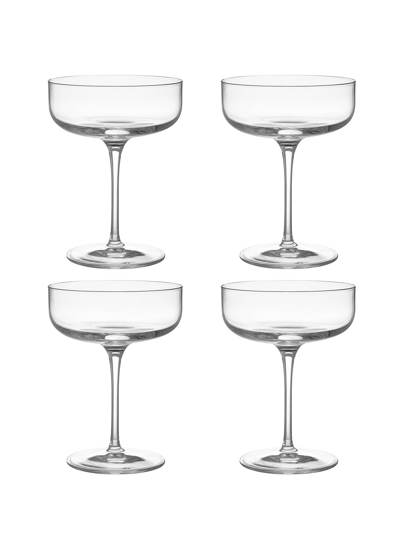 BuyJohn Lewis Sublime Champagne Saucers, Clear, 300ml, Set of 4 Online at johnlewis.com