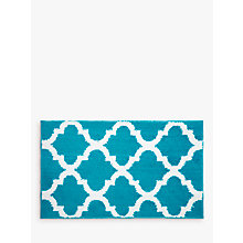 Buy John Lewis Fusion Amara Quick Dry Bath Mat, Teal Online at johnlewis.com