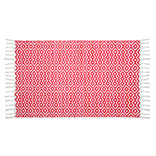 Buy John Lewis Fusion Diamonds Bath Mat, Pink Online at johnlewis.com