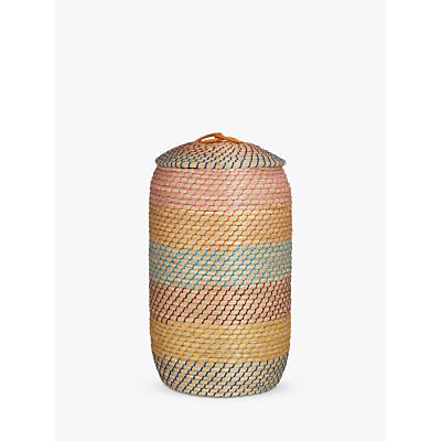 John Lewis Fusion Agra Laundry Basket, Multi