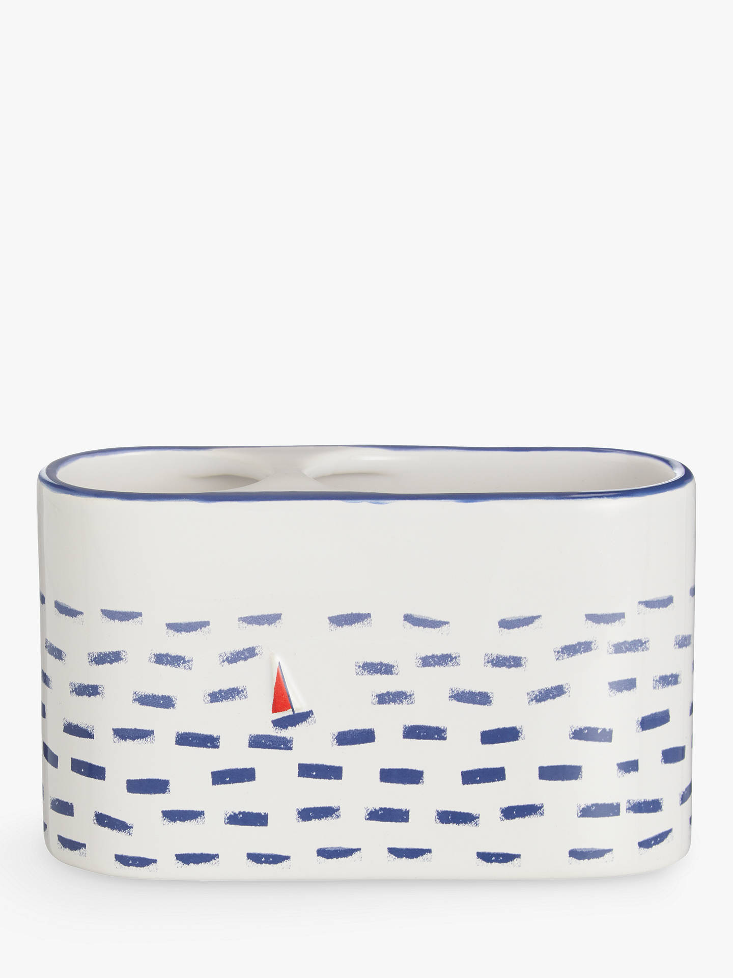 BuyJohn Lewis & Partners Coastal Lost at Sea Basin Toothbrush Caddy, Multi Online at johnlewis.com