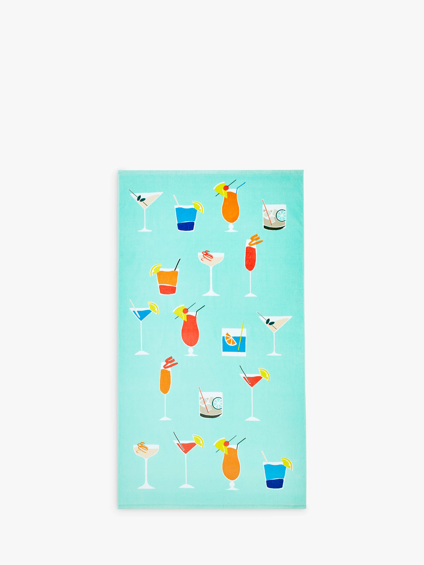 df5308360fc Buy John Lewis & Partners House Cocktail Beach Towel, Mint Online at  johnlewis. ...