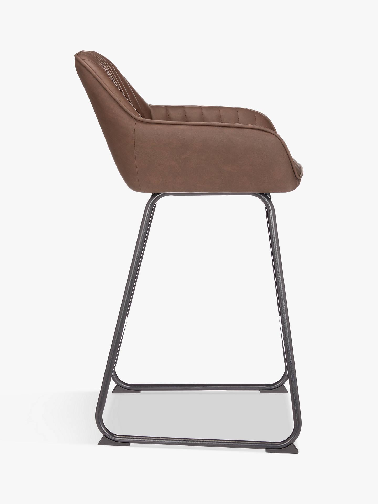 John Lewis & Partners Brooks Bar Chair, Antique Brown
