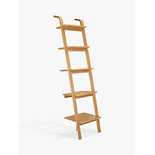 Buy House by John Lewis Anton 5 Shelf Wood Leaning Bookcase Online at johnlewis.com