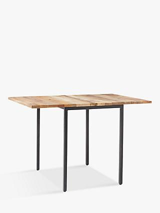 west elm Box Frame Drop Leaf 2-6 Seater Extending Dining Table, FSC-Certified (Mango Wood)