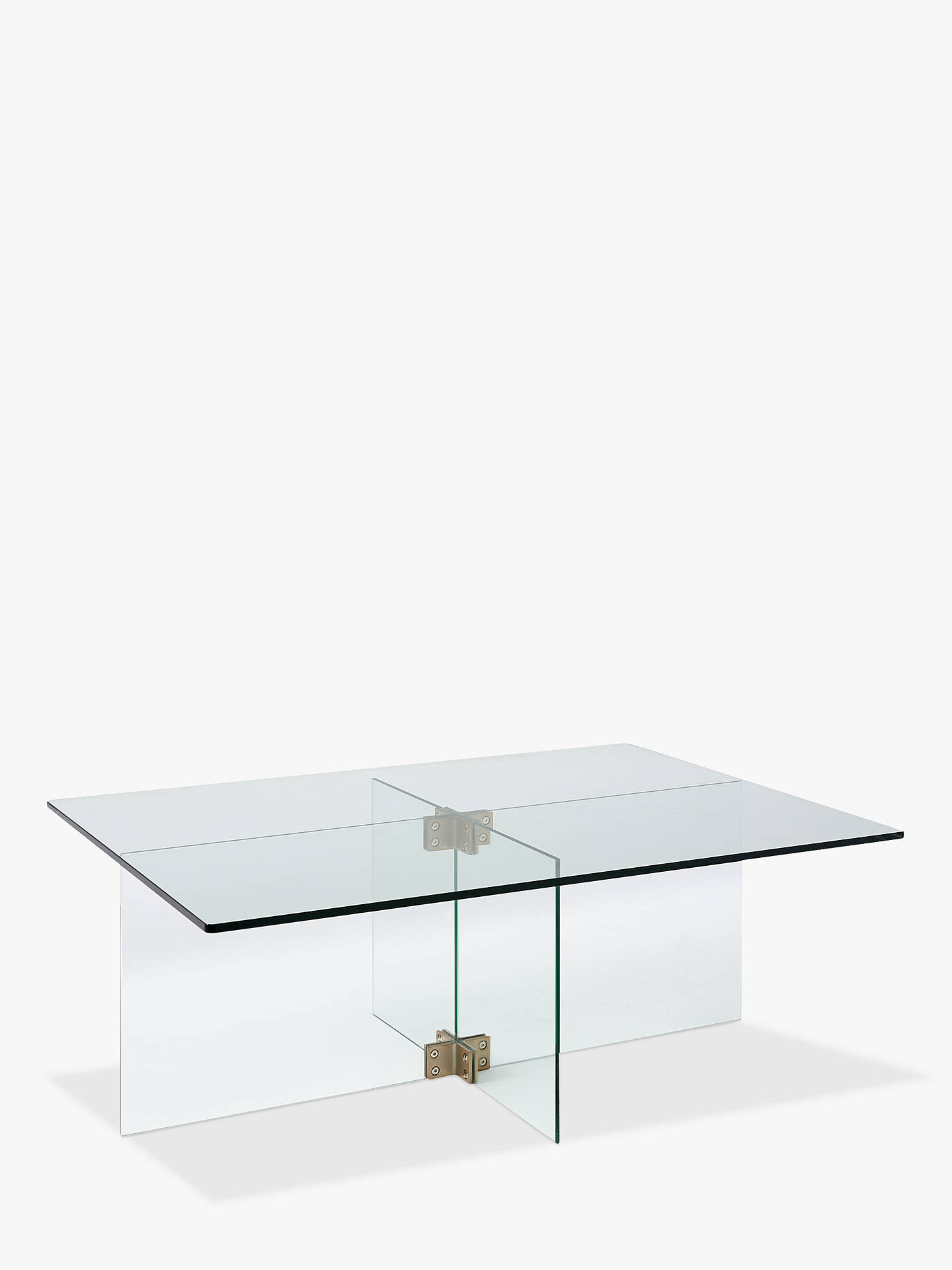 West Elm Cosmia Glass Coffee Table At John Lewis Partners