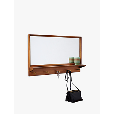 west elm Mid-Century Entryway Mirror, Pecan