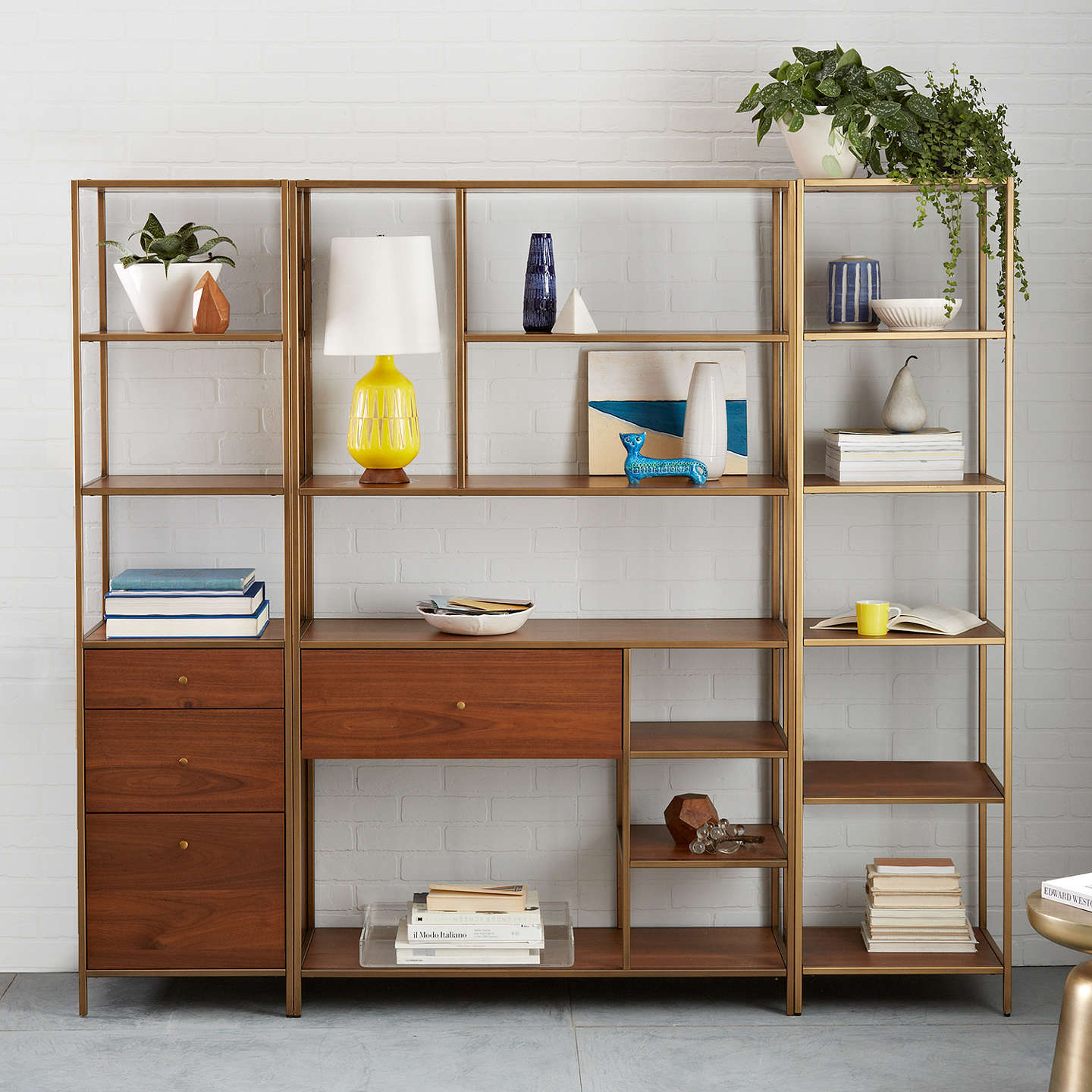 reviews storage bookcase cameo and grey crate barrel