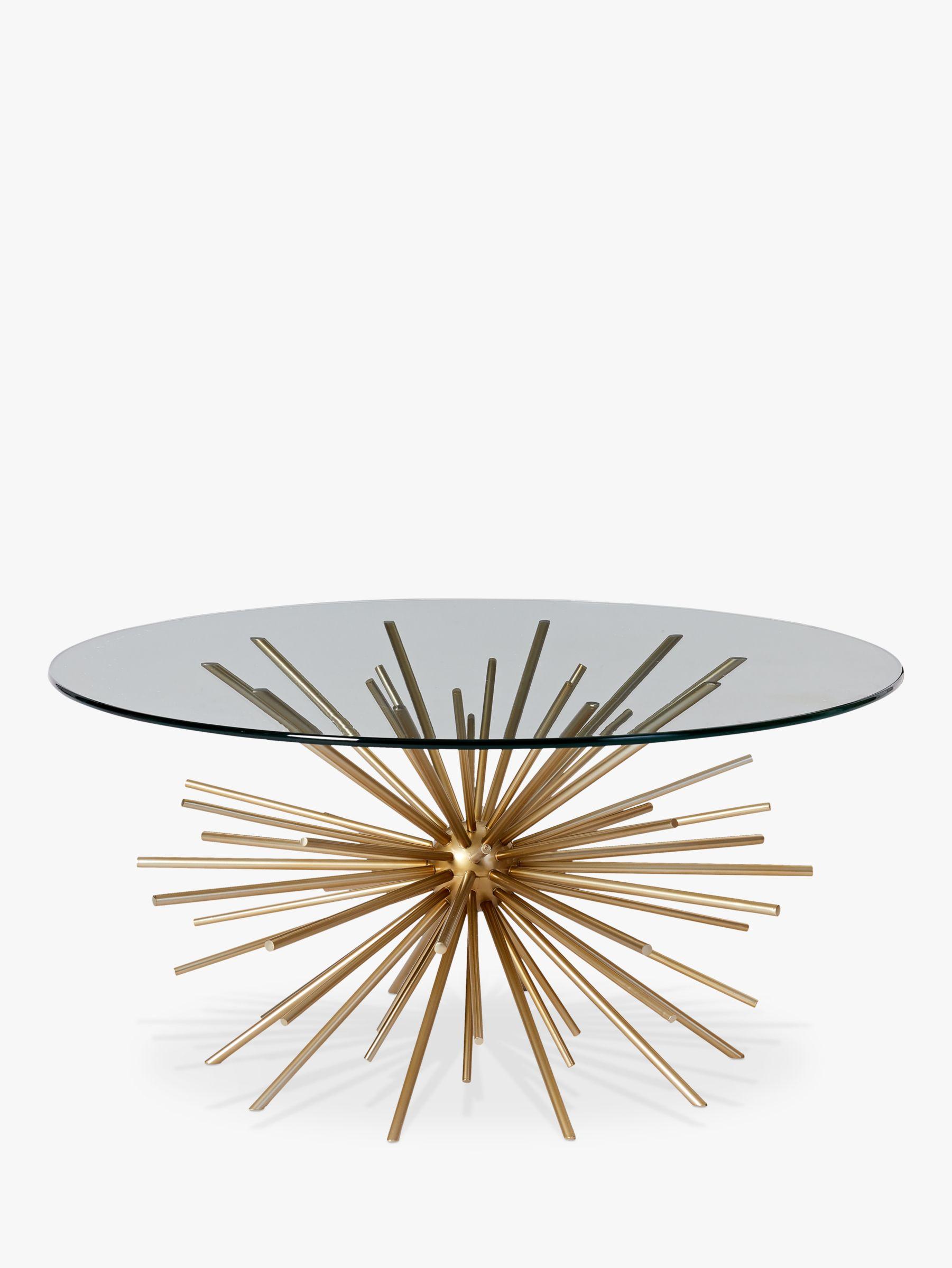 West Elm Sputnik Coffee Table Brass Glass At John Lewis Partners