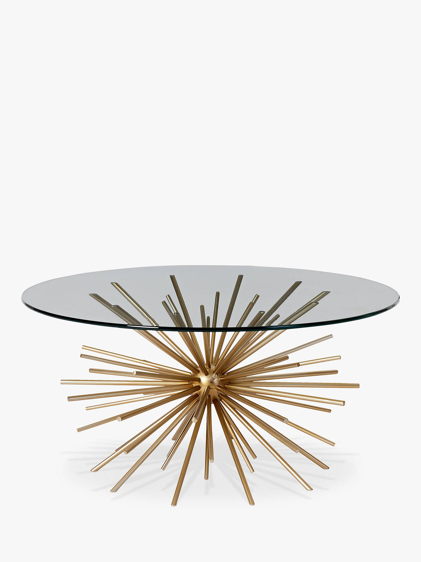 West Elm Sputnik Coffee Table Brass Glass