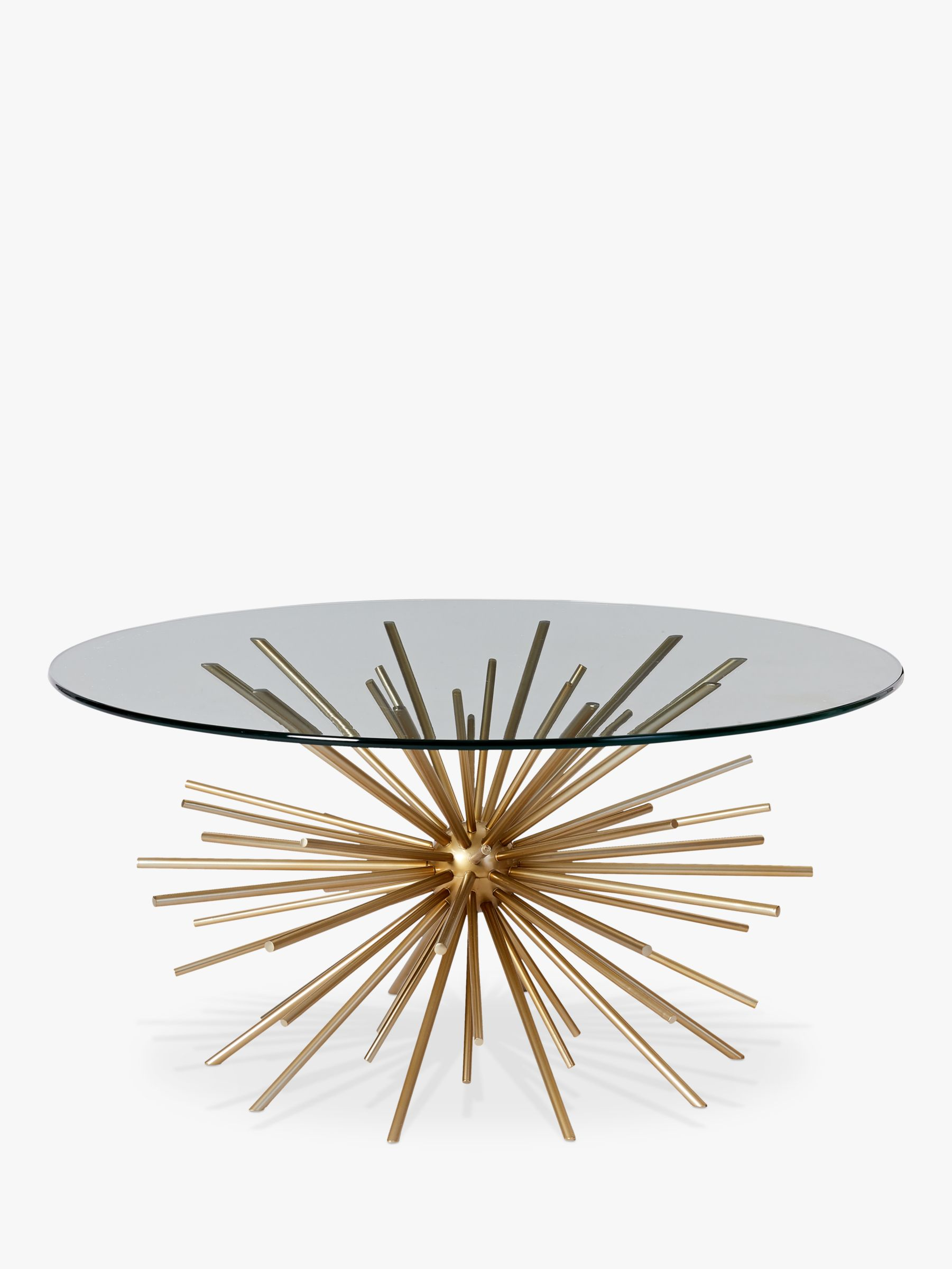 West Elm Sputnik Coffee Table Brass Glass At John Lewis Partners
