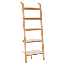 Buy House by John Lewis Anton 5 Shelf Wood Wide Leaning Bookcase Online at johnlewis.com