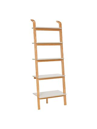 House By John Lewis Anton 5 Shelf Wood Wide Leaning Bookcase