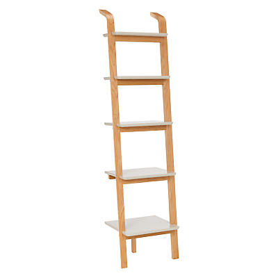 House by John Lewis Anton 5 Shelf Wood Leaning Bookcase