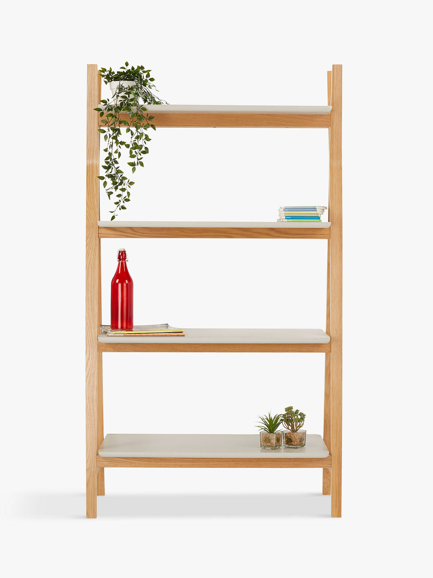4026e3966fa26 House by John Lewis Anton Wide Shelving Unit, Smoke
