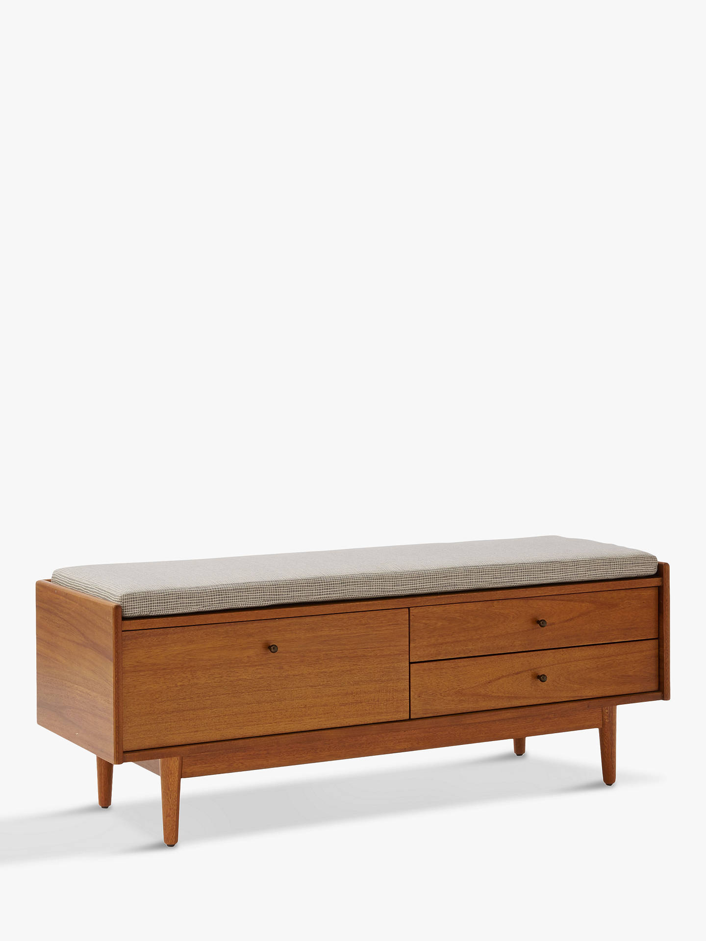 West Elm Mid Century Entryway Storage Bench Acorn At John