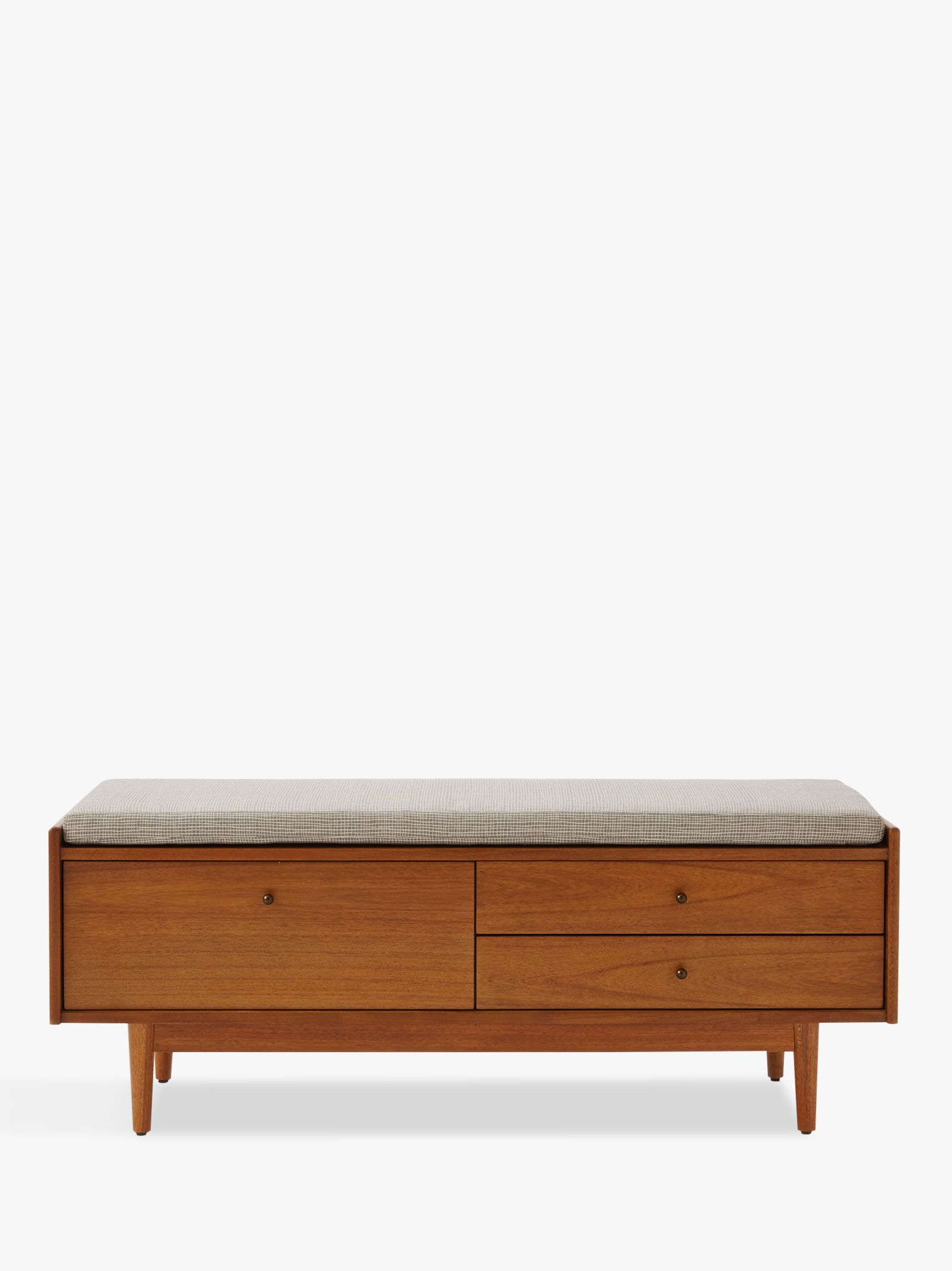 West Elm Mid Century Entryway Storage Bench Acorn At John Lewis Partners