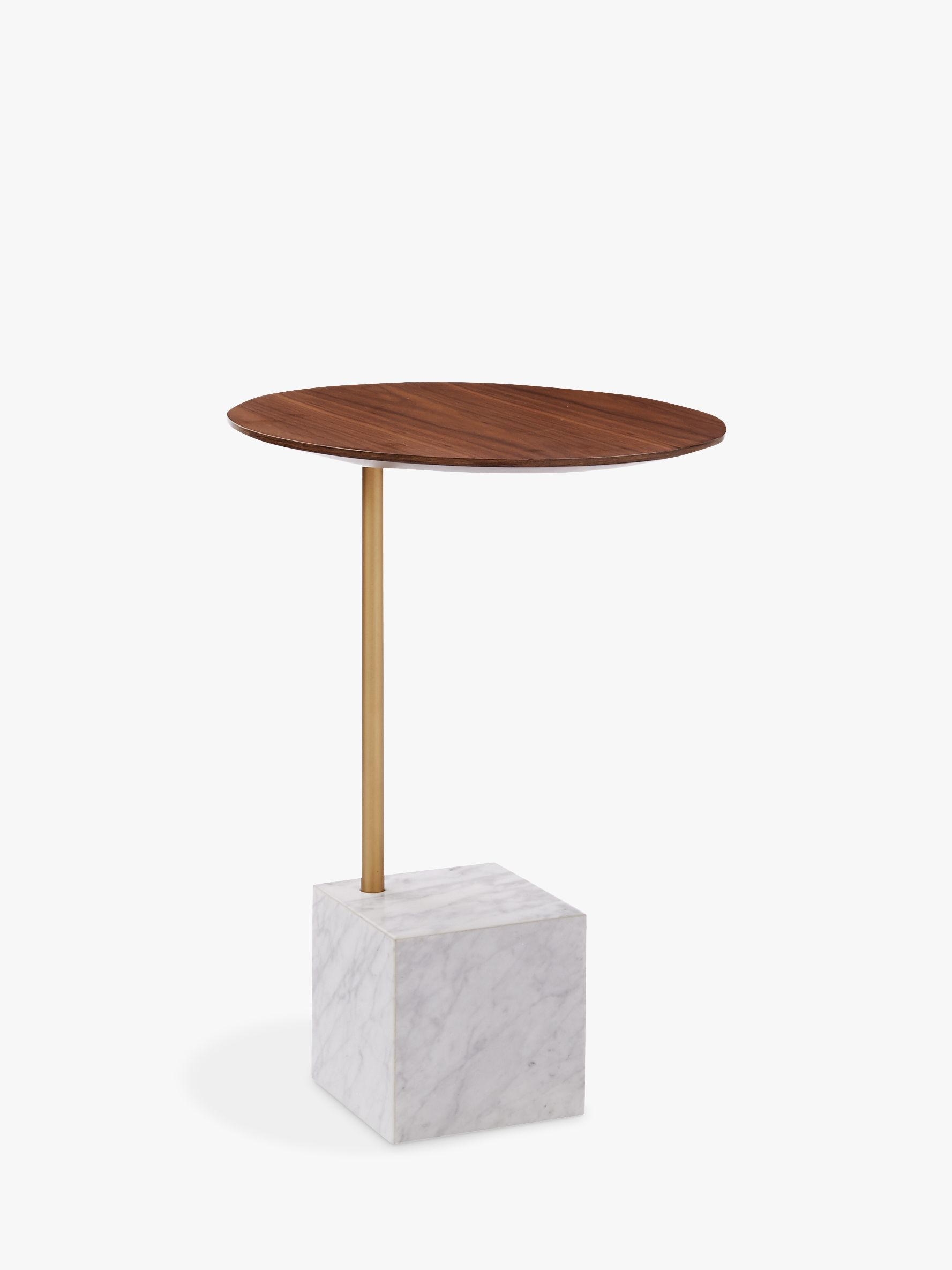 Picture of: West Elm Cube Marble Base Side Table At John Lewis Partners