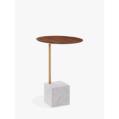 west elm Cube Marble Base Side Table