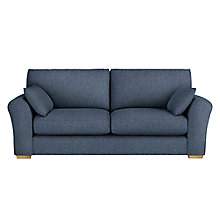 Buy John Lewis Leon Large 3 Seater Sofa, Light Leg, Catrin Navy Online at johnlewis.com
