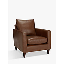 Buy John Lewis Bailey Leather Chair, Dark Leg, Milan Chestnut Online at johnlewis.com