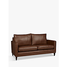 Buy John Lewis Bailey Leather Medium 2 Seater Sofa, Dark Leg, Milan Chestnut Online at johnlewis.com