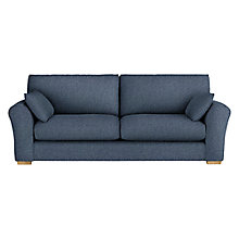 Buy John Lewis Leon Grand 4 Seater Sofa, Light Leg, Catrin Navy Online at johnlewis.com