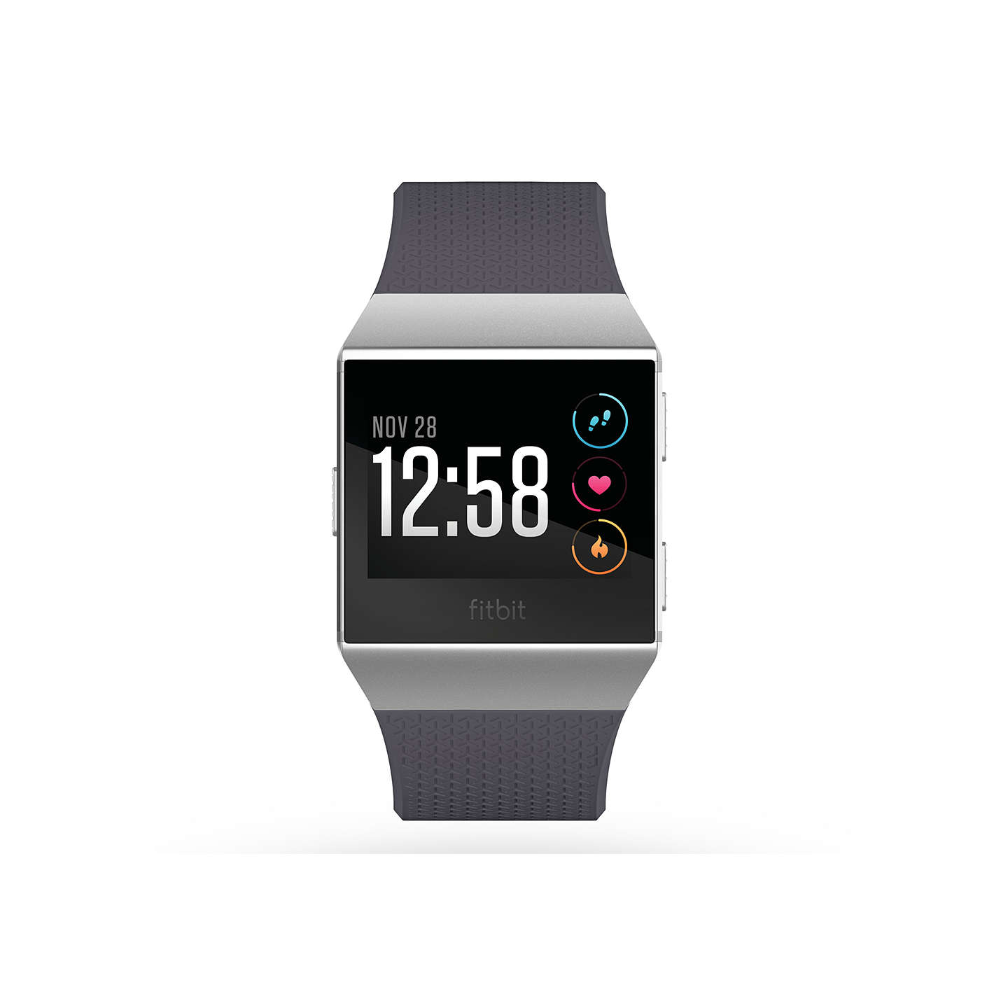 BuyFitbit Ionic Smart Fitness Watch, Blue Grey/Silver Grey Online at johnlewis.com
