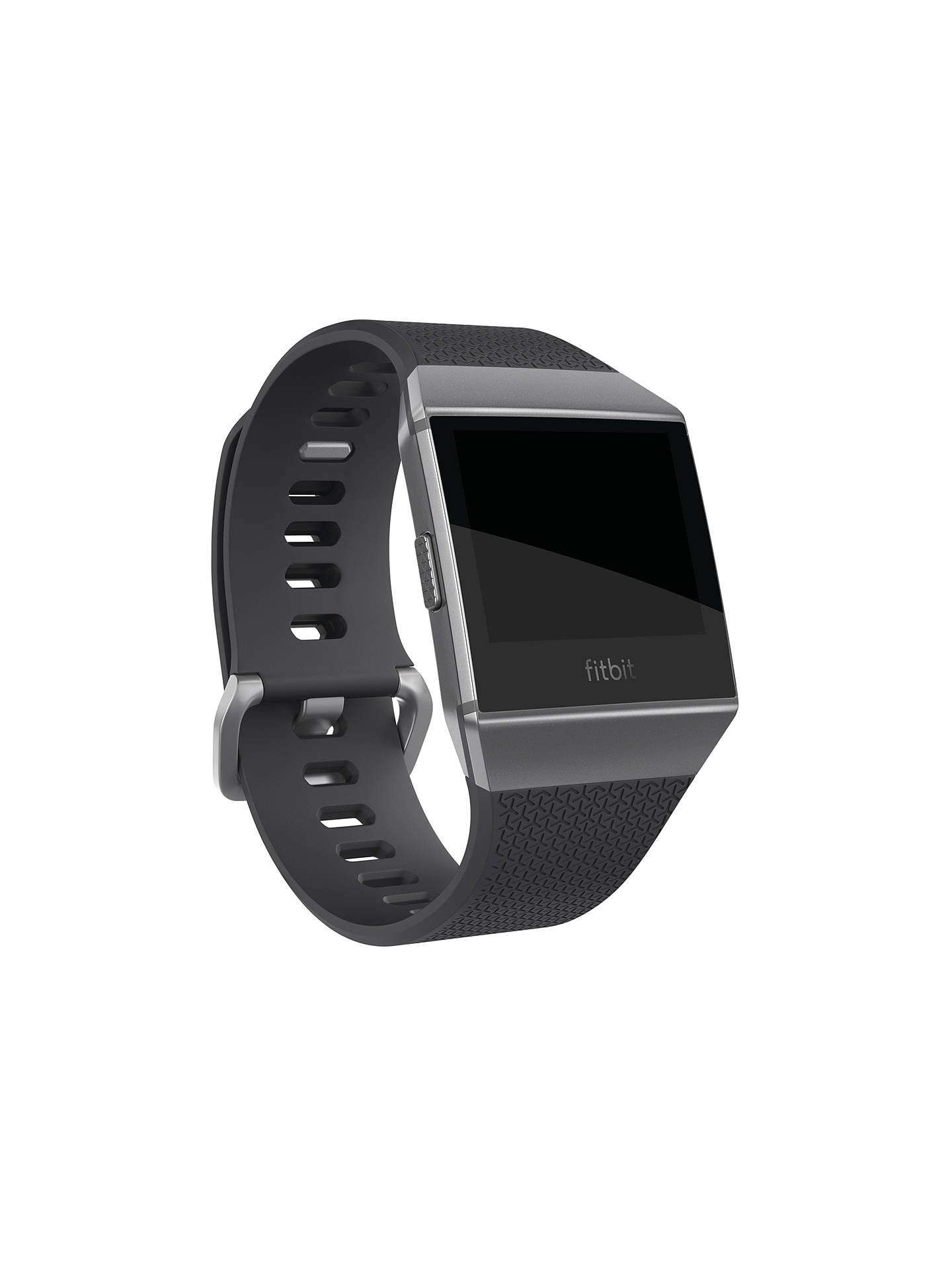 BuyFitbit Ionic Smart Fitness Watch, Charcoal/Smoke Grey Online at johnlewis.com