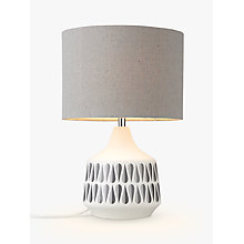 Buy John Lewis Rex Ceramic Table Lamp, White Online at johnlewis.com