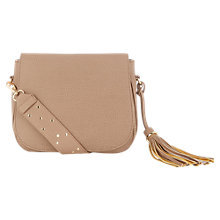 Buy Oasis Victoria Strap Detail Saddle Bag, Camel Online at johnlewis.com