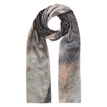 Buy Jigsaw Golden Storm Silk Scarf, Multi Online at johnlewis.com