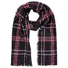 Buy Oasis Window Check Dog Tooth Scarf, Mid Pink Online at johnlewis.com